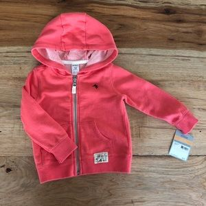 NWT Carter's Coral Light weight jacket